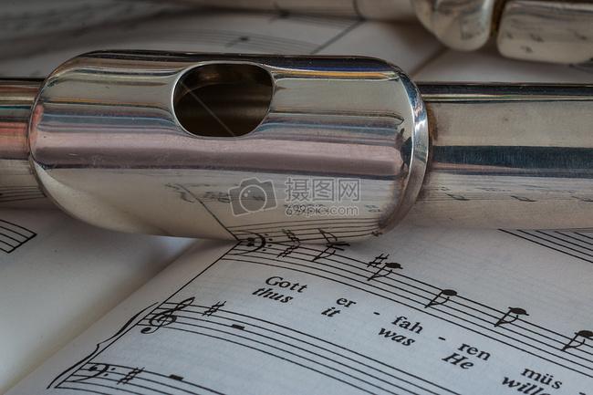 乐普/长笛乐器镀银音乐仪器经典横笛阳光 乐普 音符jpg 红色