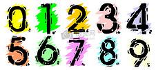五彩的数字背景图案
