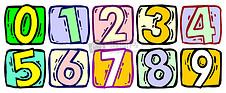 卡通版的阿拉伯数字