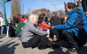 反对2012年3月24日在法兰克福纳粹游行抗议(奥德)