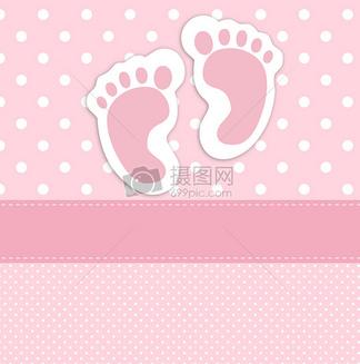 婴儿脚印<i>名</i><i>片</i><i>模</i><i>板</i>