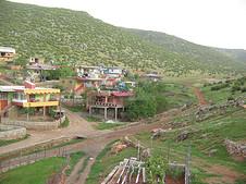 從Kurtderesi,帕扎爾吉克的視圖。土耳其:Kurtderesi是帕扎爾吉克視圖。