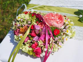 心形的花朵装饰