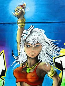 墙面上的涂鸦